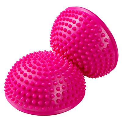 Балансувальна півсфера для масажу і рефлекторного впливу, колір рожевий