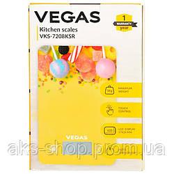 Весы кухонные электронные VEGAS VKS-7208KSR до 5 кг точность 1 г