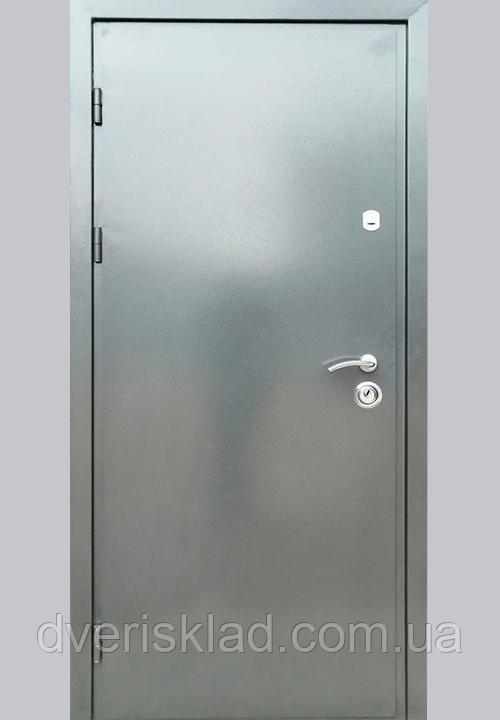 Двері вуличні Антик сірий аверс