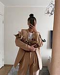 Стильний костюм жіночий брючний з подовженим піджаком, фото 8