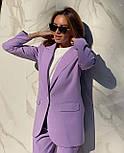 Стильний костюм жіночий брючний з подовженим піджаком, фото 5
