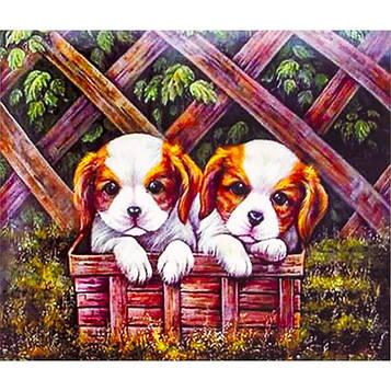Картина по номерам 40х50 см DIY Щенки в коробки (FX 30333)