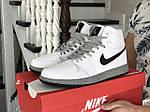 Мужские кроссовки Nike Air Jordan (бело-серые) В10255 демисезонная спортивная высокая обувь, фото 6