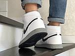 Мужские кроссовки Nike Air Jordan (бело-серые) В10255 демисезонная спортивная высокая обувь, фото 8