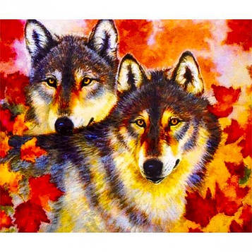 Картина по номерам 40х50 см DIY Осенние волки (FX 30423)