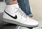 Мужские кроссовки Nike Air Jordan (бело-серые) В10255 демисезонная спортивная высокая обувь, фото 9