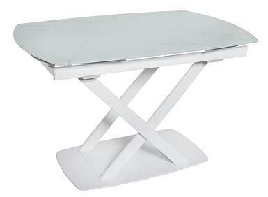 Стол раскладной DT 8106 белый мрамор сатин 120/180 ТМ Daosun