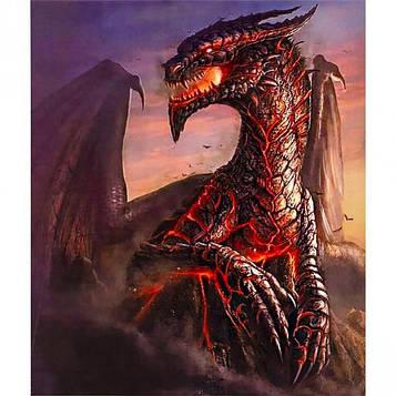 Картина по номерам 40х50 см DIY Огненный дракон (FX 30778)