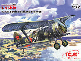 И-15 БИС. Сборная модель советского истребителя биплана в масштабе 1/72. ICM 72012