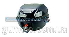 Кофр для мотоцикла (багажник)  YM-0830 (V-30L) BLACK 41×40×32