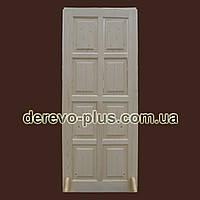 Двери из массива дерева 80см (глухие) f_0580