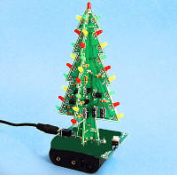 Электронный конструктор, набор для пайки Новогодняя ёлка_2