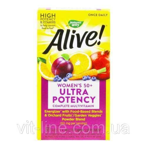 Alive Мультивітаміни для жінок за 50 + nature's Way