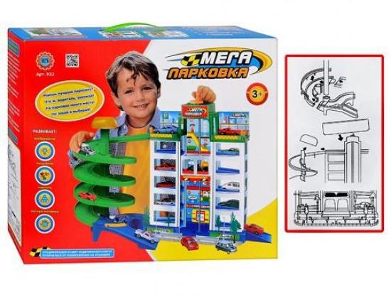 Игровой набор гараж Мега парковка 922 с 6 этажами