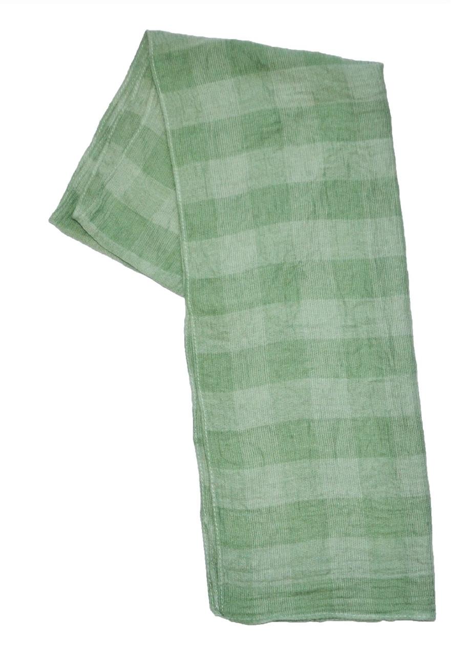 Шарф дитячий демісезонний в клітинку зелений