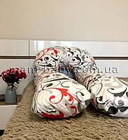 Подушка для беременных U-образная без съемной наволочкой и молнией MamBaby (вензель) белая 170х75 см