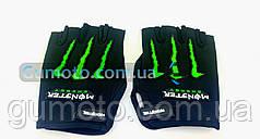 Мотоперчатки YM001-15 (короткие) черные size L
