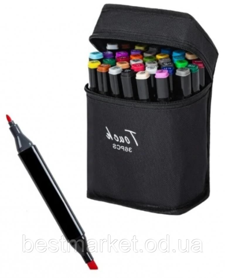 Набор Двусторонних Маркеров Touch для Рисования и Скетчинга на Спиртовой Основе 36 шт.