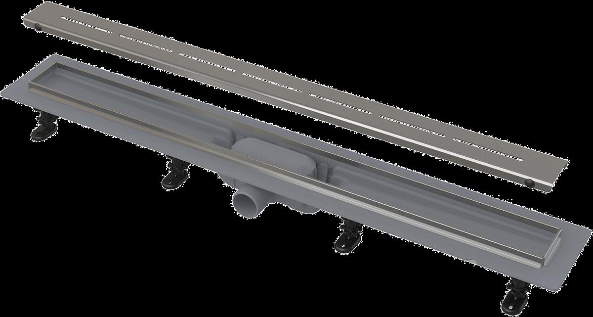 Лінійний трап AlcaPlast APZ18-750M, пороги з нержавіючої сталі