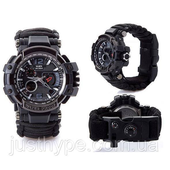 Многофункциональные тактические часы 7 в 1 YUZEX черный код 17-0000