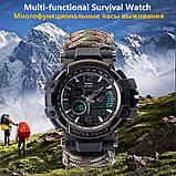 Многофункциональные тактические часы 7 в 1 YUZEX черный код 17-0000, фото 6