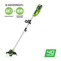 Триммер аккумуляторный Greenworks G40LTK2 (40 В, 2 А*ч)