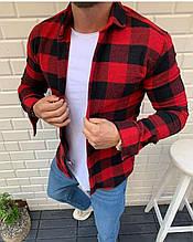 Мужская рубашка в клетку  байковая ТурцияО Д