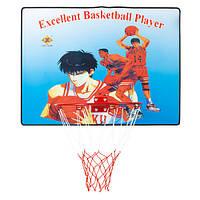 Кольцо баскетбольное, щит 61x46x0.9 см, D=35cм.