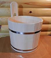 Цебер в сауну з дерева ручної роботи