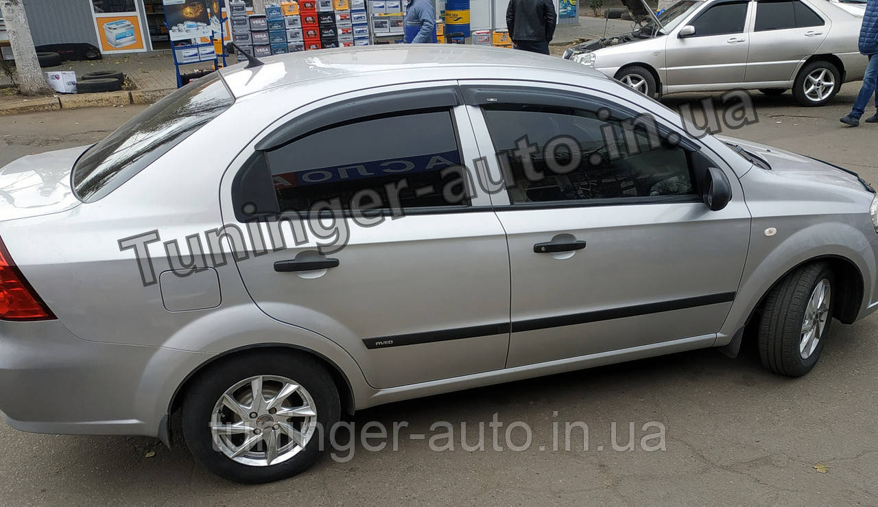 Дефлекторы окон (ветровики) Chevrolet Aveo T250 2006-2011 (HIC)
