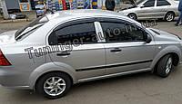 Дефлекторы окон (ветровики) Chevrolet Aveo T250 2006-2011 (HIC), фото 1