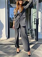 Подовжений піджак вільного крою + широкі штани (на поясі гумка), розміри: s (42-44), m (44-46)