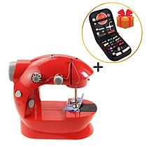 Швейная машинка Помощница мини + подарок Набор для шитья
