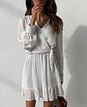 Ошатне плаття жіноче на запах (Норма, Батал), фото 4