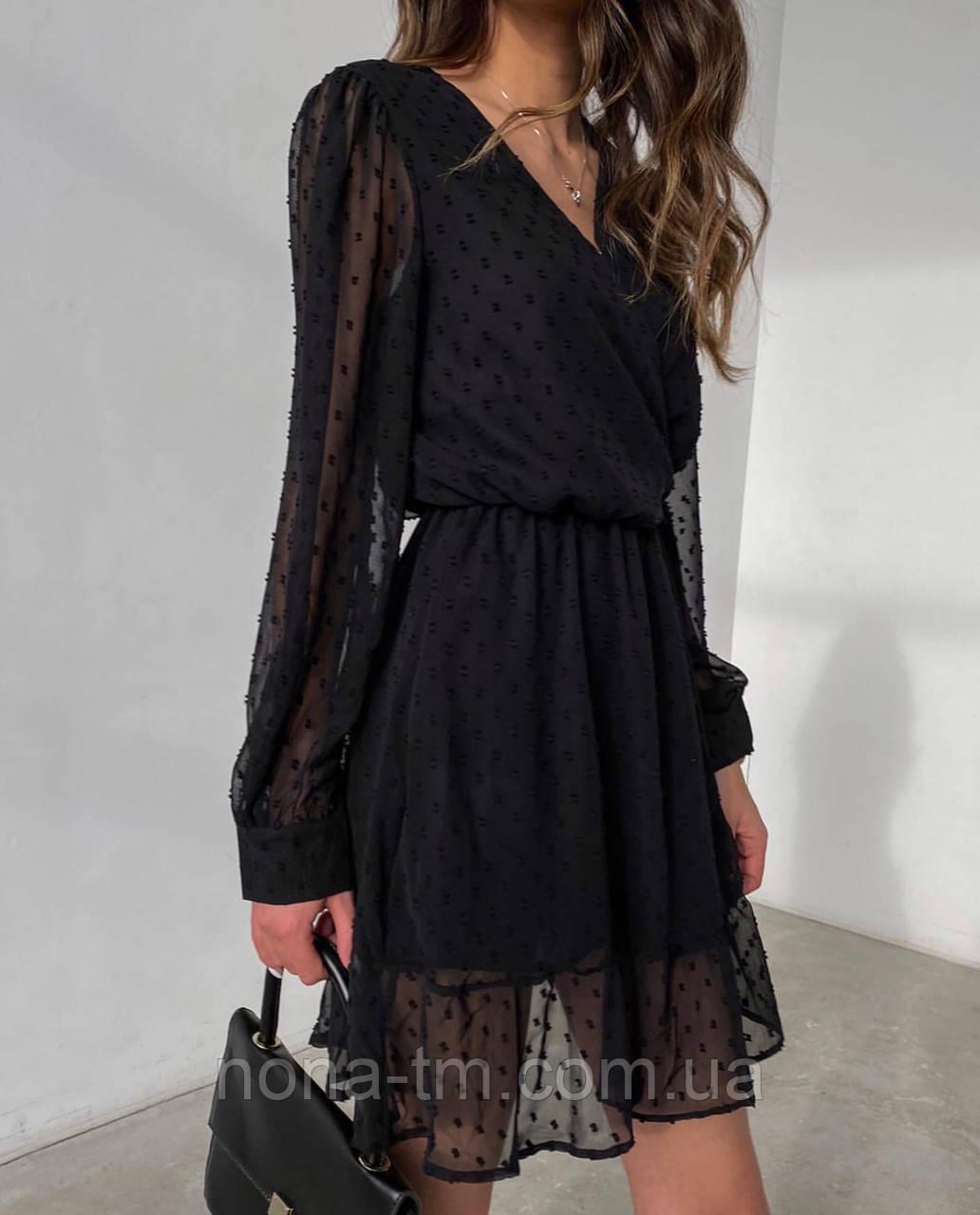 Ошатне плаття жіноче на запах (Норма, Батал)