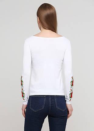 Женская вышитая футболка с длинным рукавом «Маковий цвіт», фото 2