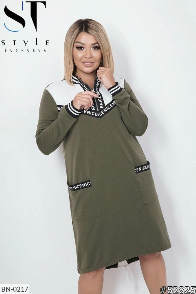 Жіноче плаття з кишенями (Батал)