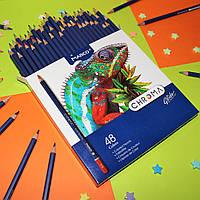 "Карандаши Chroma 48 цветов №8010-48CB ""MARCO"" шестигранный корпус, фото 1"