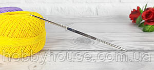 Крючок металлический двухсторонний для вязания №2-3