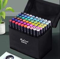 Набор двусторонних маркеров для скетчинга и рисования на спиртовой основе. 60 штук