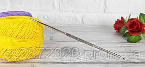 Крючок металлический двухсторонний для вязания №7-8