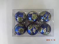 """Игрушка елочная """"Шар Виноград"""" (диаметр 6 см, упаковка 6 шт, цвета в ассортименте), фото 1"""