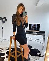 Женское платье под горло с длинным рукавом, фото 1