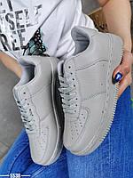 Жіночі кросівки з еко шкіри 36-41 р сірий, фото 1