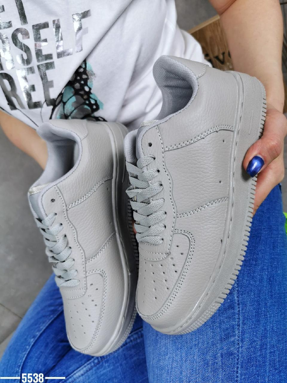 Жіночі кросівки з еко шкіри 36-41 р сірий