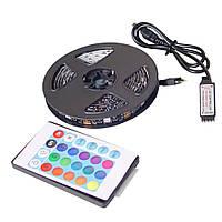 Светодиодная USB лента 5050 RGB 2 м с пультом 7572