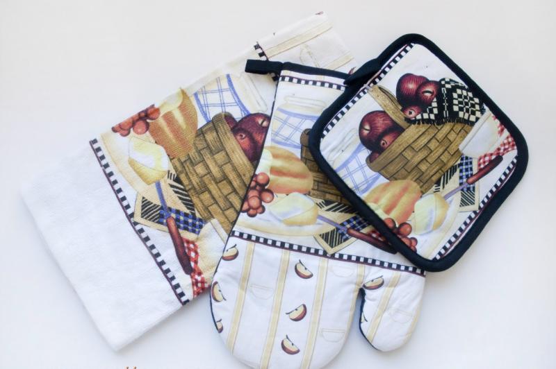 Кухонный набор ТЕП Натюрморт  (прихватка, полотенце, рукавичка).