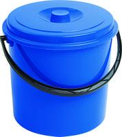 Ведро пластиковое с крышкой синее 10л Curver CR-0120-1
