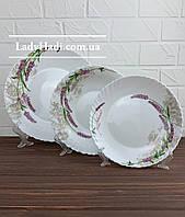 Набор столовой посуды 18 пр. Лаванда Wave Vittora в коробке, сервиз столовый