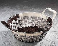 Плетеная корзина для фруктов 28 см.